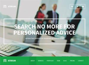 Atrium – Responsive One Page Joomla Template