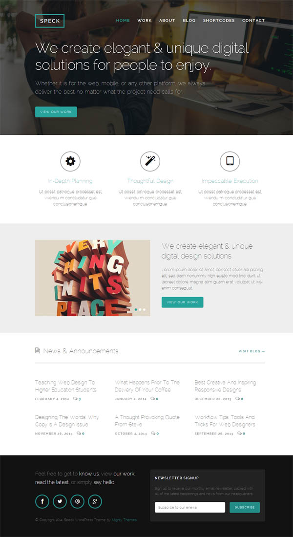 Speck – Responsive WordPress Theme for creatives