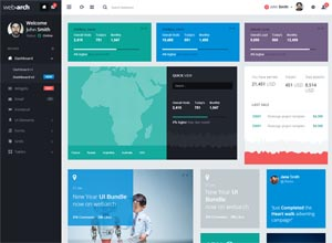 Webarch – Responsive Admin Dashboard Template