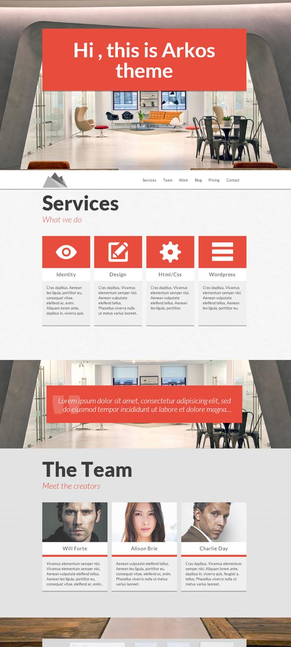 ARKOS – WordPress Responsive One-page Theme