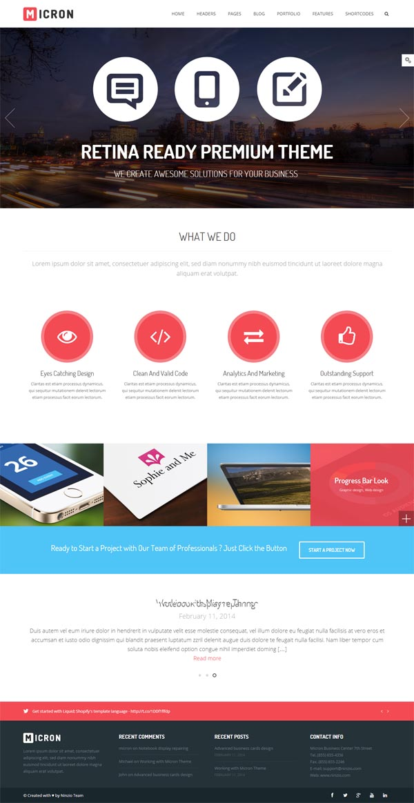 Micron – Retina Responsive Multi-Purpose WordPress Theme