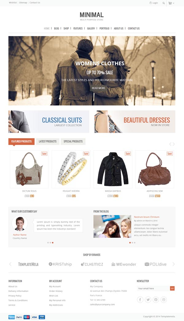 Minimal – Multi Purpose WooCommerce Theme
