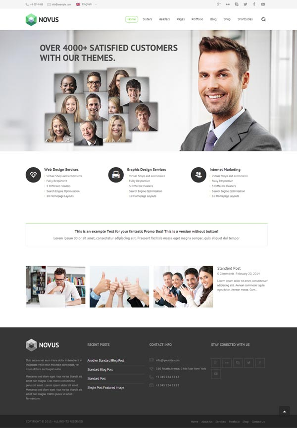 Novus – Premium Multi-Purpose WordPress Theme