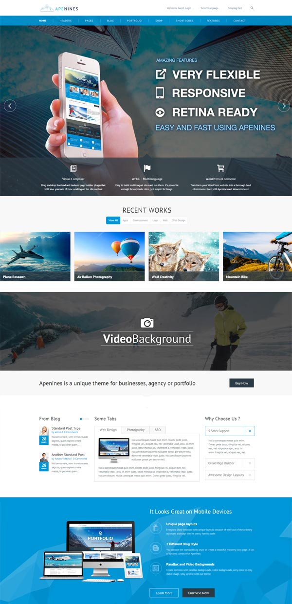Apenines – Responsive Multi-Purpose Theme