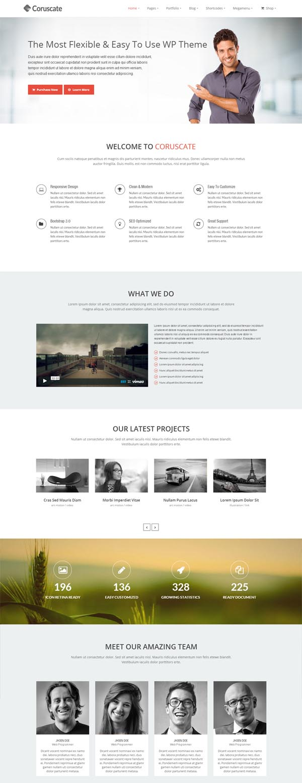 Coruscate – Multi-Purpose WordPress Theme