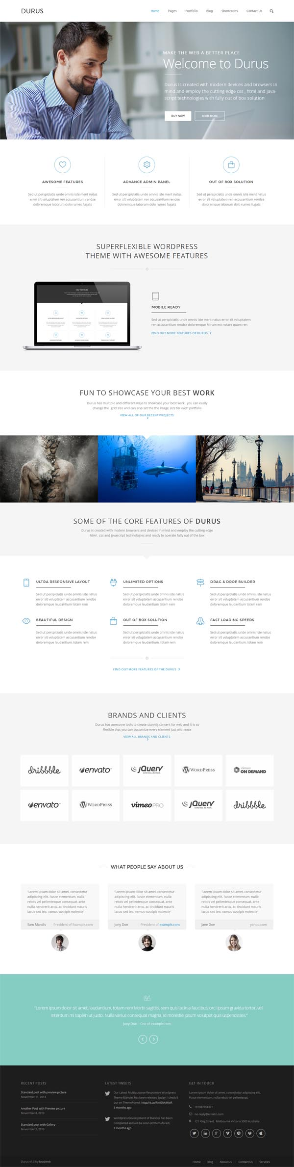 Durus Multipurpose WordPress Theme