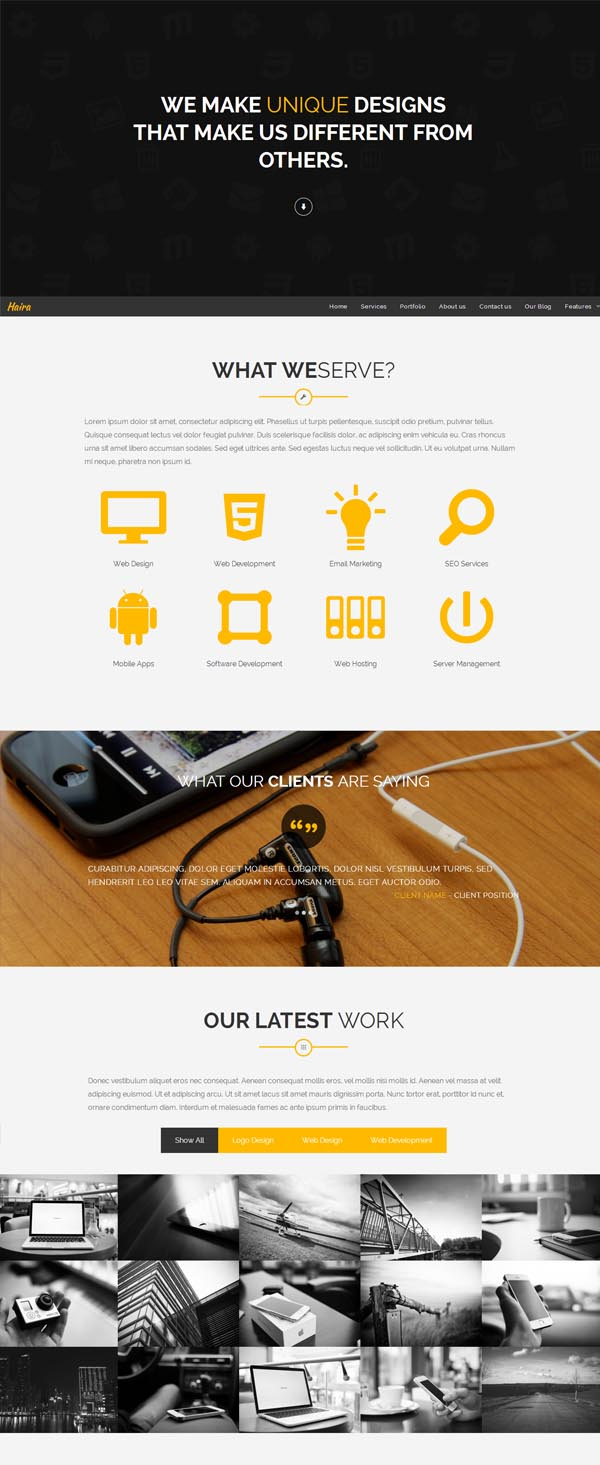 Haira – Responsive Multipurpose WP Theme
