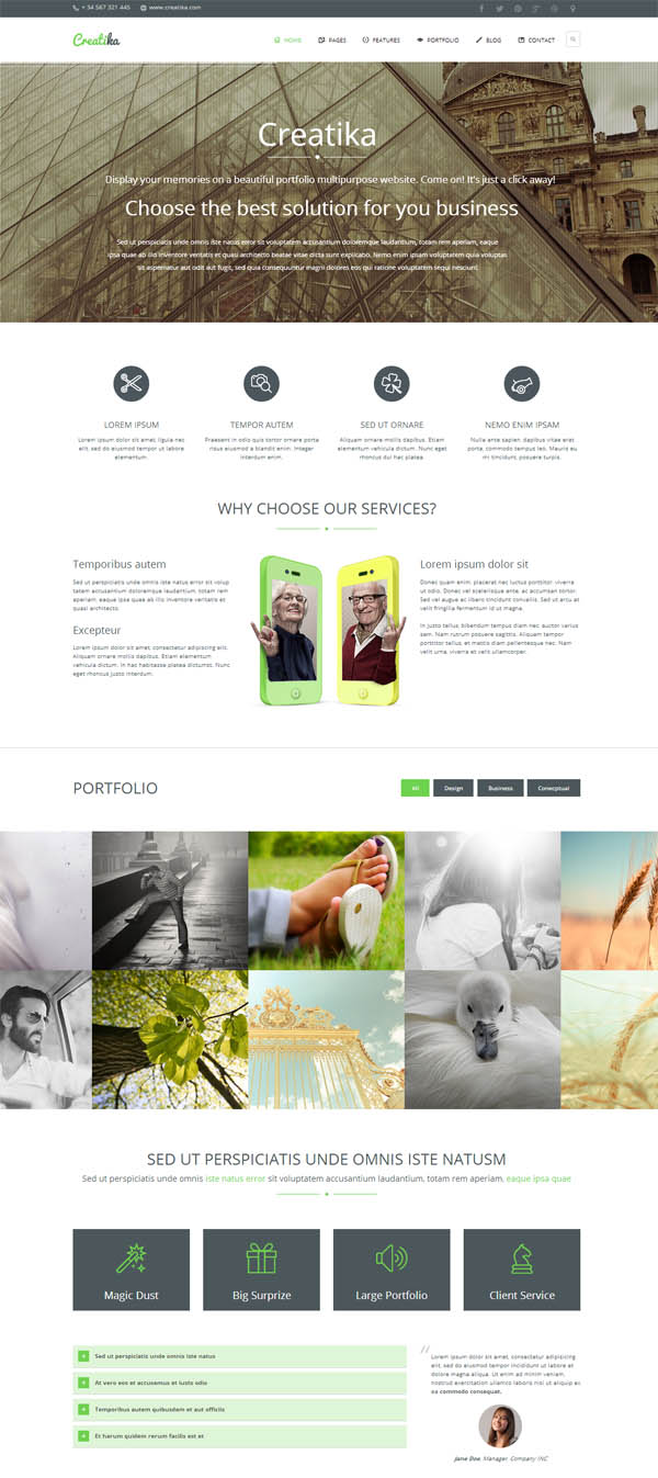 Creatika – Business HTML5 Template
