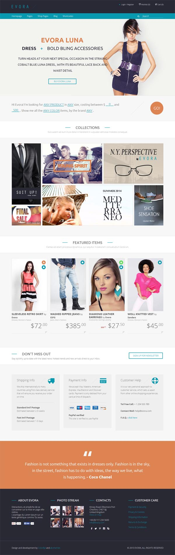 Evora – Responsive e-Commerce Theme