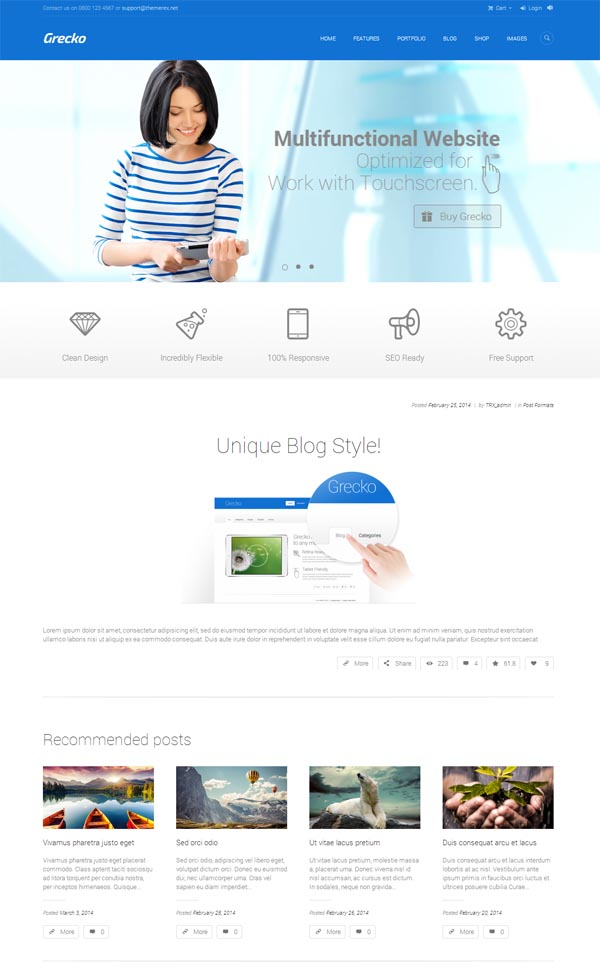Grecko – Multipurpose WordPress Theme