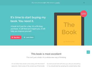 TheBook – App / eBook HTML5 + CSS3 Landing Page