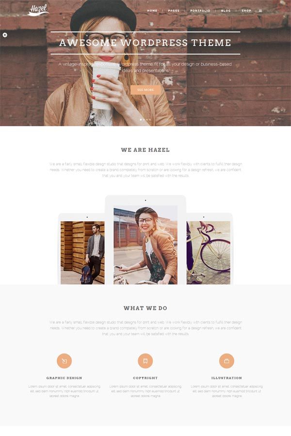 Hazel – Ultimate Creative WordPress Theme