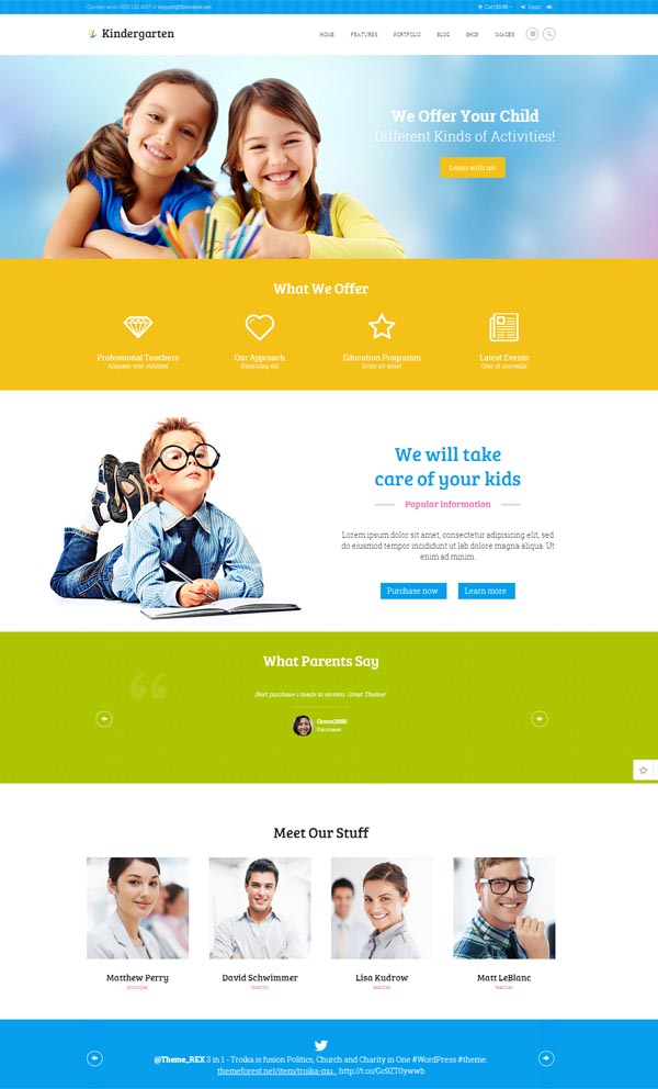 Kindergarten – Children WordPress Theme | Html5 Mania