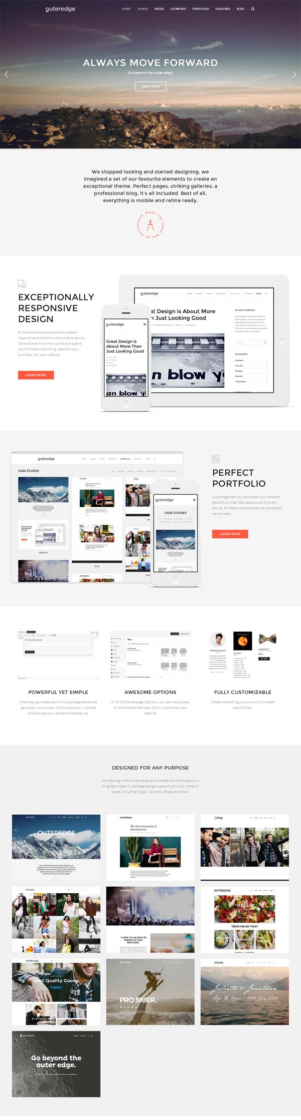 Outeredge – Responsive Multi-Purpose Theme