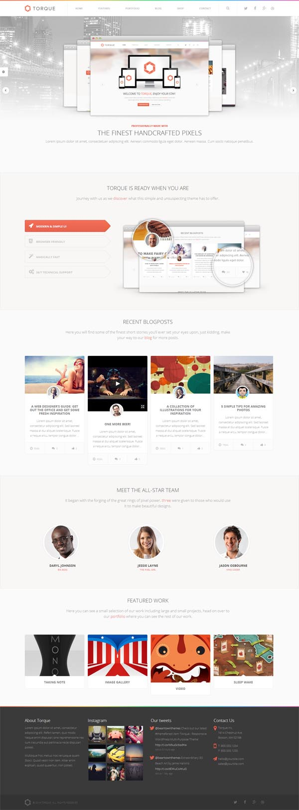 Torque – Responsive WordPress Multi-Purpose Theme