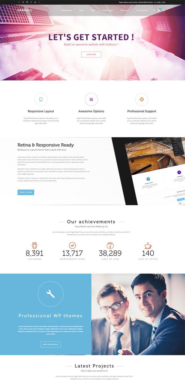 Embrace – Creative Corporate WordPress Theme