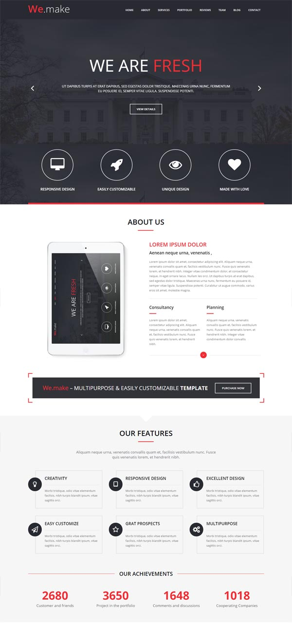 We.Make – Responsive WordPress Theme