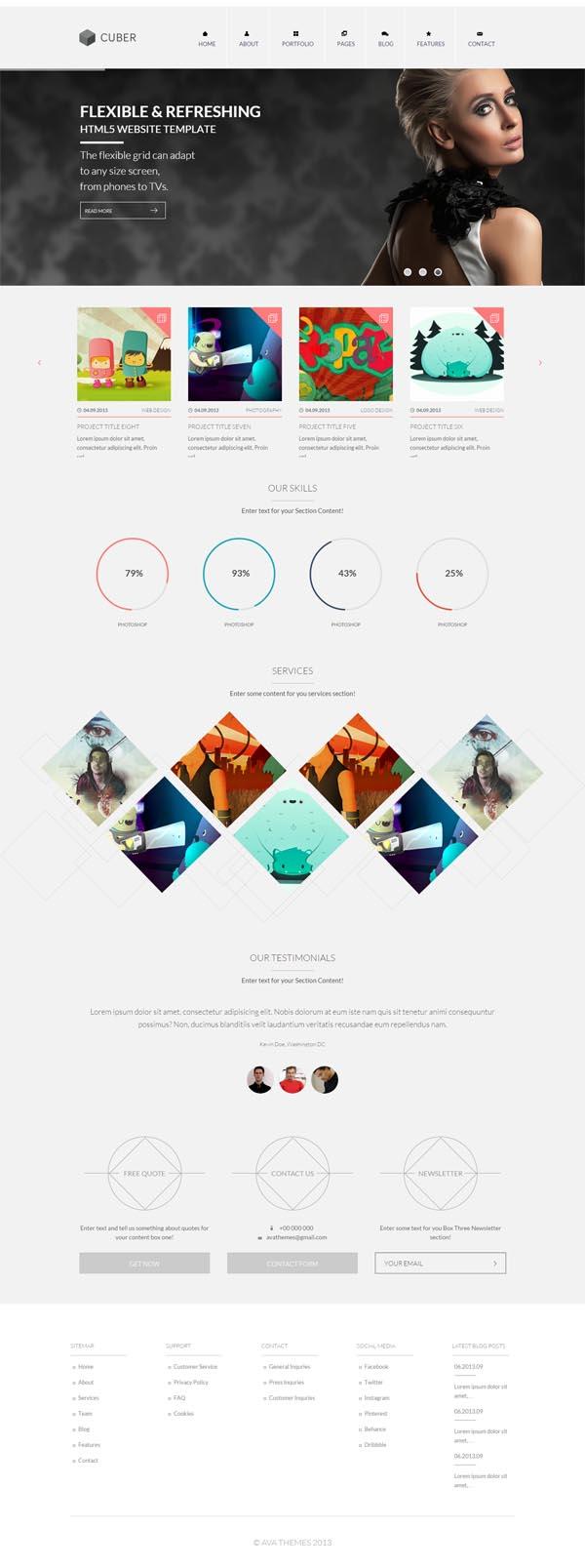 Cuber – Modern Responsive Minimal WordPress Theme