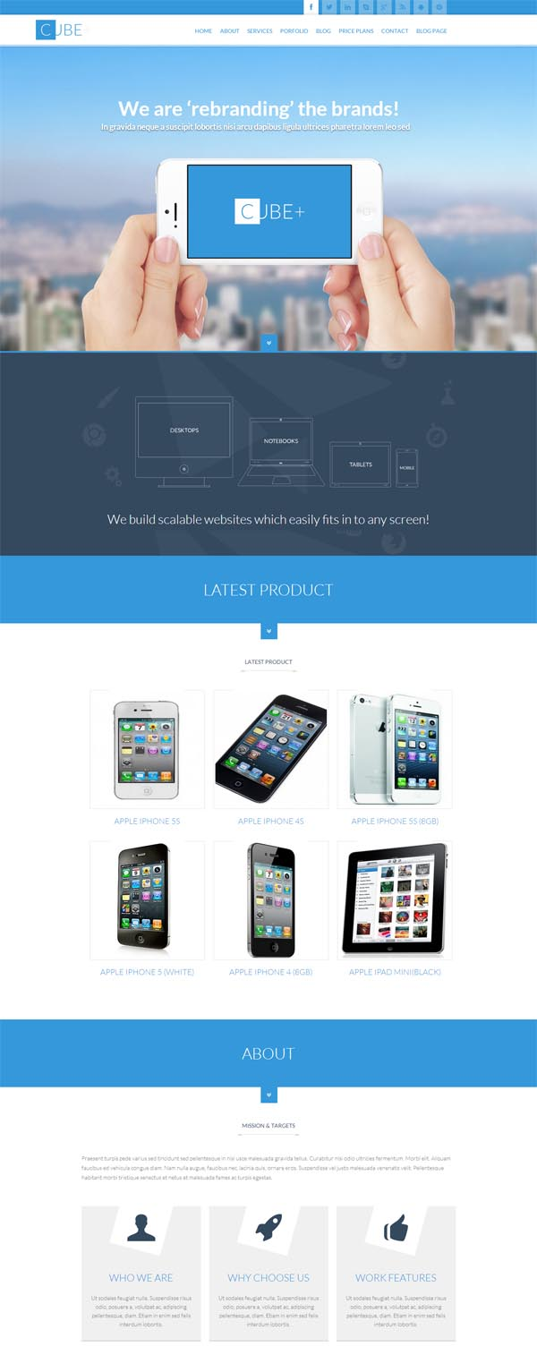 Cube+ Responsive Multipurpose One Page Theme