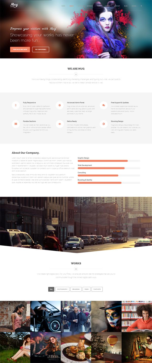 Mug – Creative One Page Multi-Purpose WordPress Theme