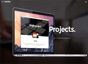 Maven – Responsive Portfolio WordPress Theme