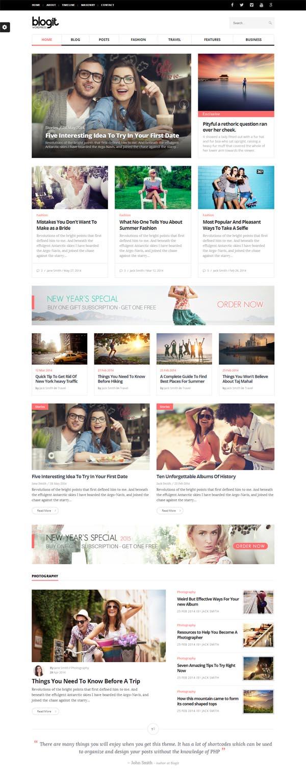 Blogit – Clean Blog/Magazine WordPress Theme