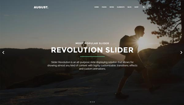 August – Creative Multi-Purpose WordPress Theme