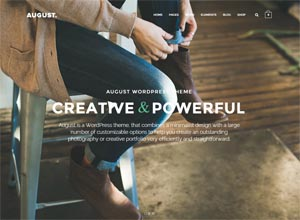August – Creative Multi-Purpose WordPress Theme