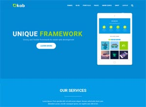Okab Responsive Multi-Purpose HTML5 Template