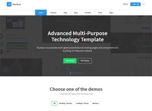 Nucleus – Multipurpose Technology HTML Template