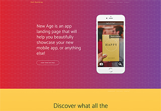 New Age – Bootstrap App Landing Page Theme Free Download
