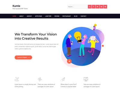 Kumle Free Multipurpose Elementor WordPress