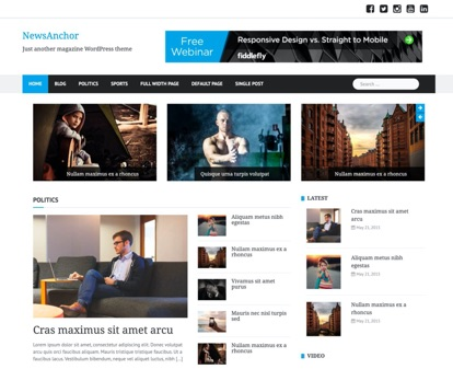 NewsAnchor Free Magazine WordPress Theme